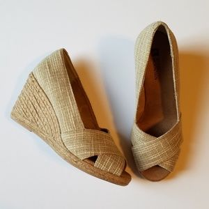 White Mountain Open Toe Espadrilles